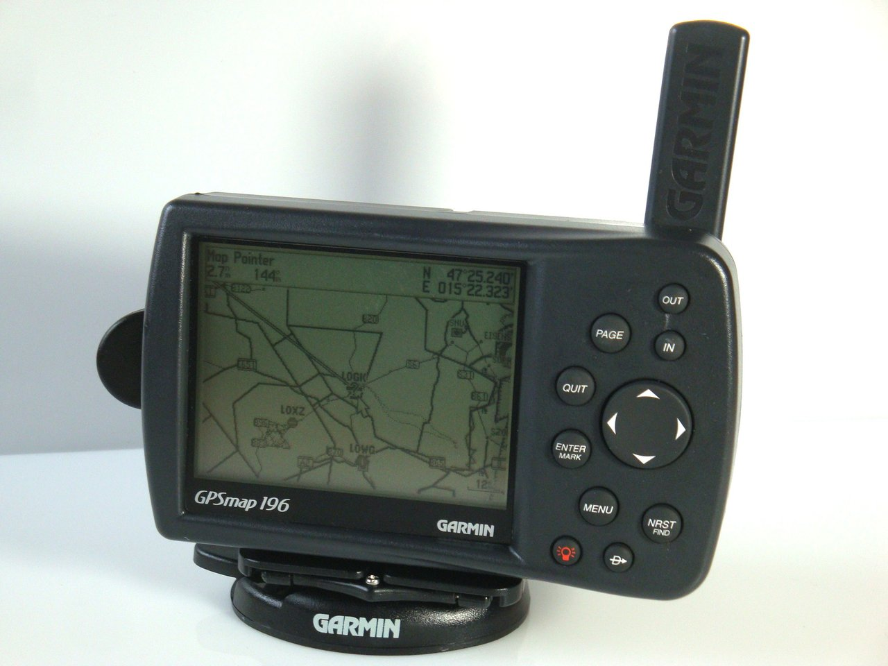 garmin gpsmap196 portabler gps empf nger mit aktuellem. Black Bedroom Furniture Sets. Home Design Ideas