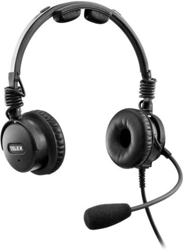 Telex Airman 8 ANR Headset - Twin Plugs, needs no batteries!