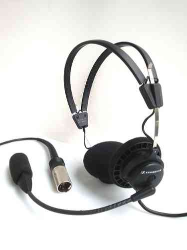 Sennheiser HMEC 45-CA with Batt. Case and XLR-5 Plug